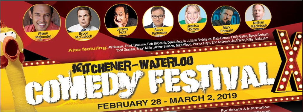 Kitchener Waterloo Comedy Festival's 10th Anniversary in UpTown Waterloo!